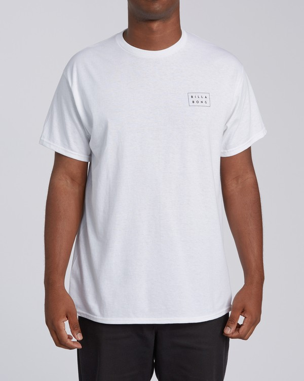 0 Diecut 2 California Short Sleeve T-Shirt White M4602BRZ Billabong
