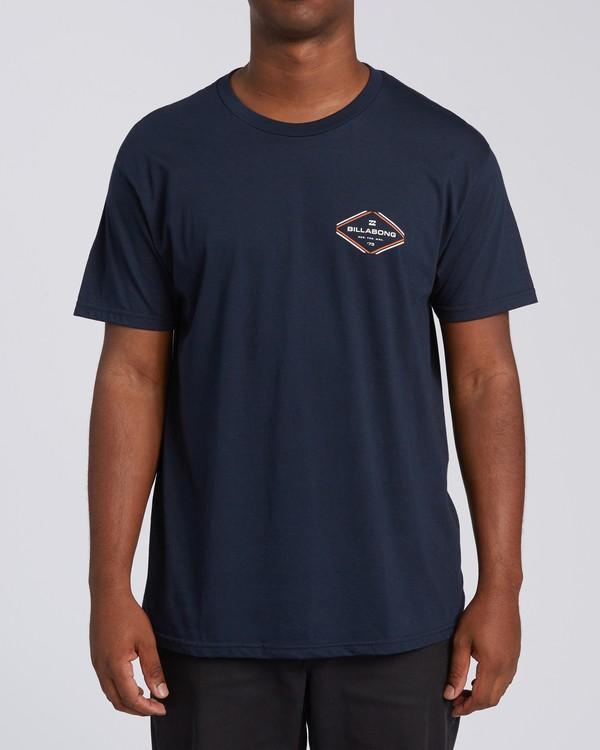 0 Triangular Short Sleeve T-Shirt Blue M4602BTR Billabong