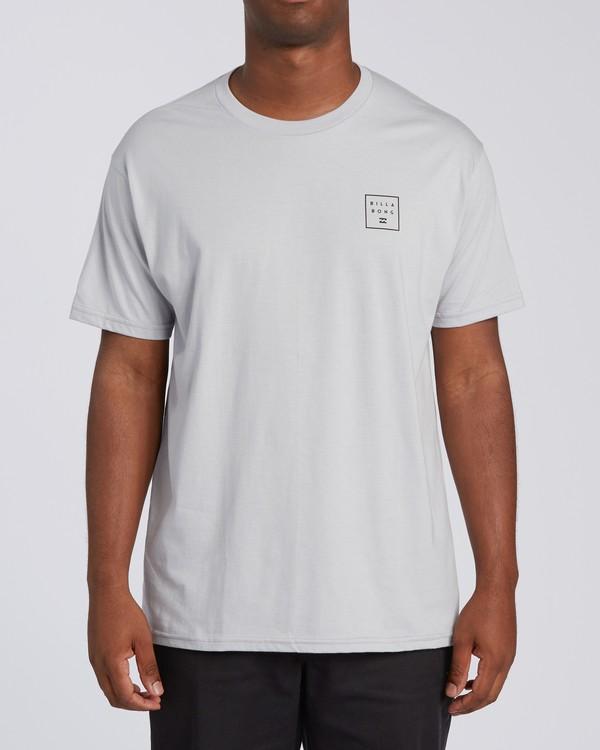 0 Stacked Short Sleeve T-Shirt Grey M4603BVD Billabong
