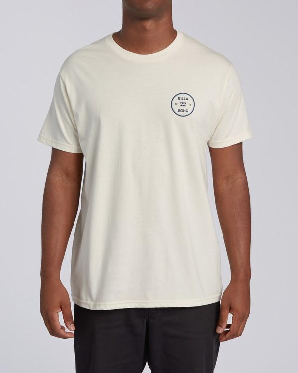 0 Roller Short Sleeve T-Shirt White M4603BVO Billabong
