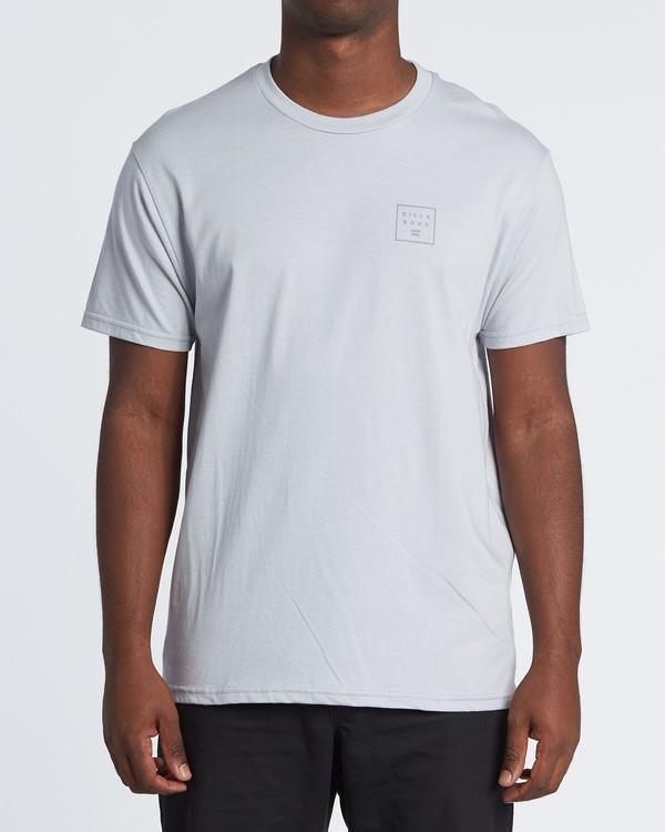 0 Stacked Essential Short Sleeve T-Shirt Grey M460WBSE Billabong