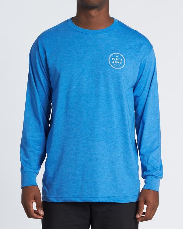 0 Rotor Essntial Long Sleeve T-Shirt Blue M470WBRO Billabong