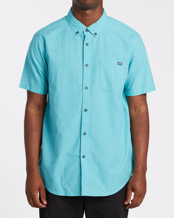 0 All Day Short Sleeve Shirt Green M5001BAL Billabong
