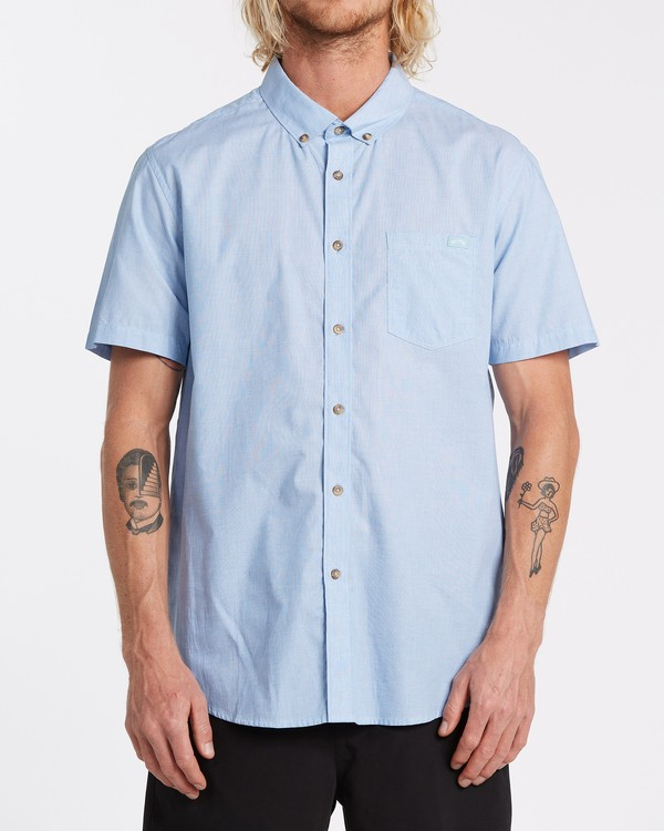 0 All Day Short Sleeve Shirt Blue M5001BAL Billabong