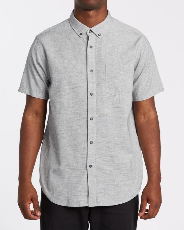 0 All Day Short Sleeve Shirt Grey M5001BAL Billabong