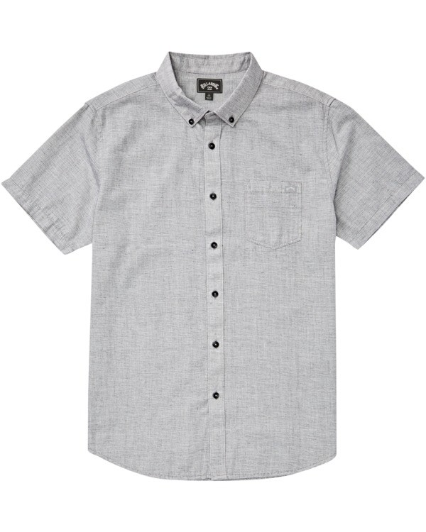 0 All Day Short Sleeve Shirt Grey M5003BAL Billabong