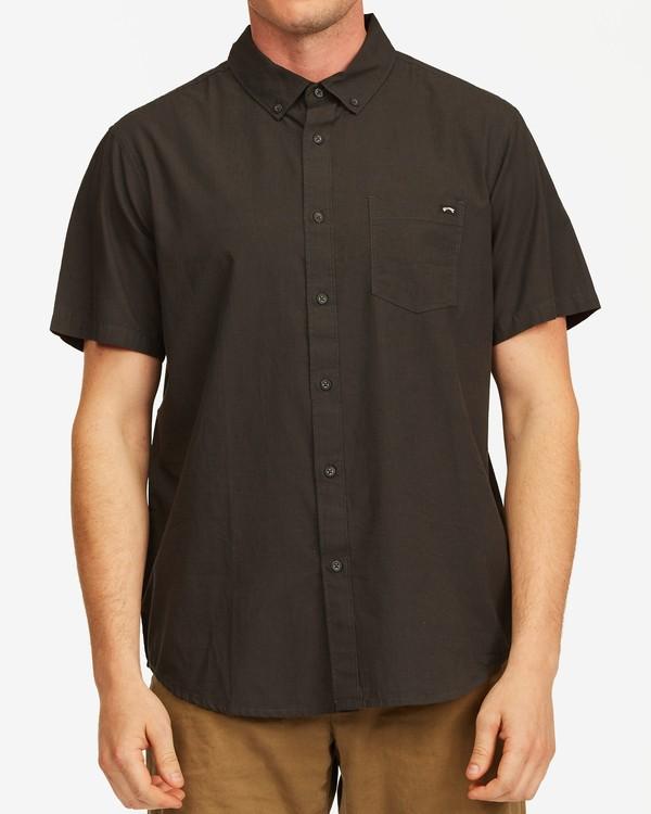 0 All Day Short Sleeve Shirt Black M5003BAL Billabong