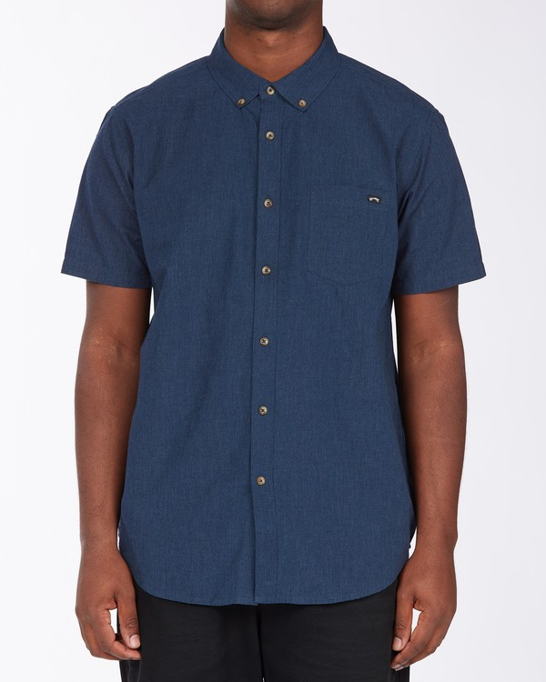 0 All Day Short Sleeve Shirt Blue M5003BAL Billabong