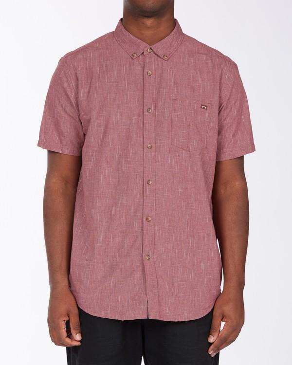 0 All Day Short Sleeve Shirt Red M5003BAL Billabong