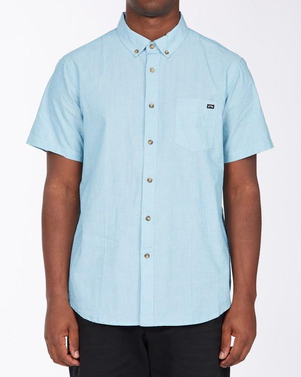 0 All Day Short Sleeve Shirt Blue M5003BAL Billabong