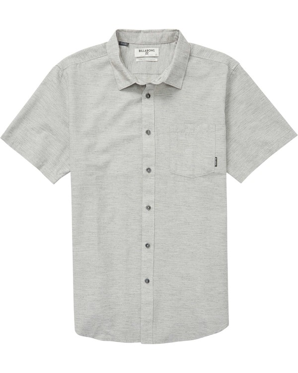 0 All Day Helix Short Sleeve Shirt Grey M500NBAL Billabong