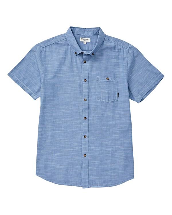 0 All Day Short Sleeve Shirt Blue M500TBAL Billabong