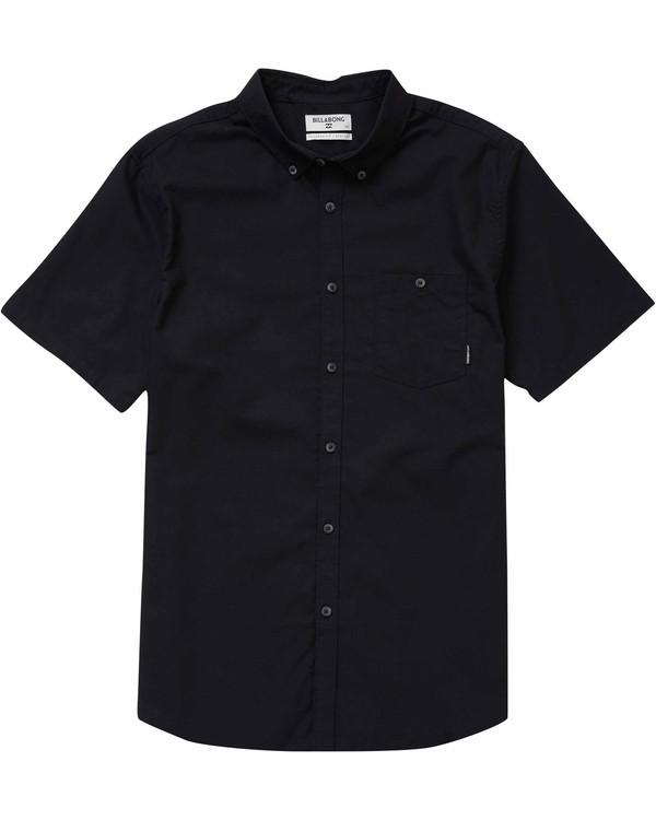 0 All Day Oxford Short Sleeve Shirt Black M501NBAO Billabong