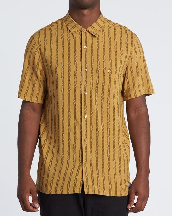 0 Tucker Vert Short Sleeve Shirt Beige M501WBTR Billabong