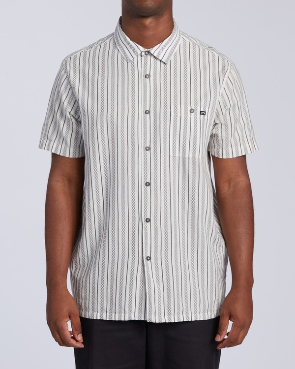 0 Sundays Jacquard Short Sleeve Shirt White M5023BSJ Billabong
