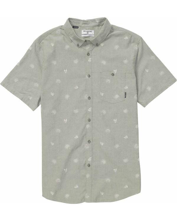 0 Sundays Mini Short Sleeve Shirt Beige M502NBSM Billabong