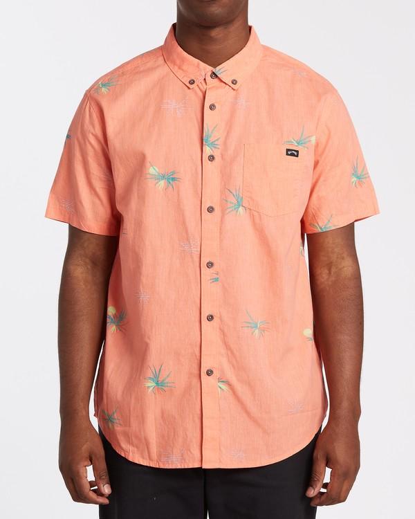 0 Sundays Mini Short Sleeve Shirt Orange M5031BSM Billabong