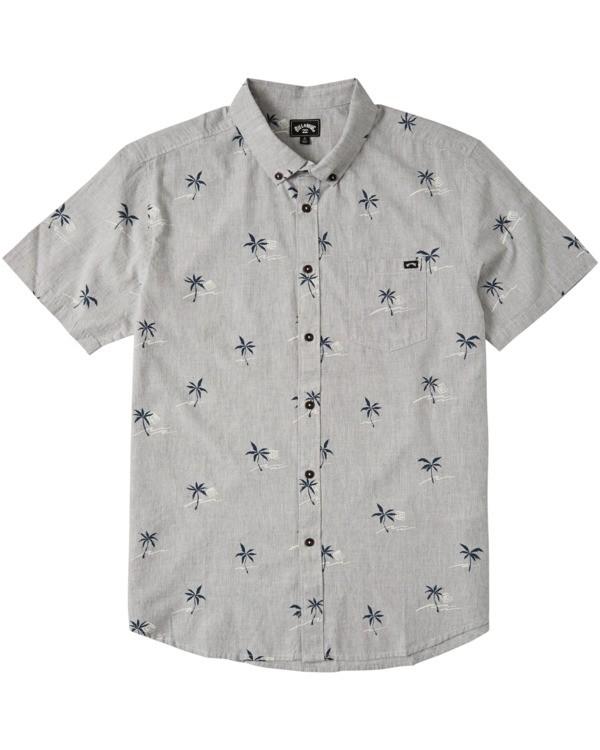 0 Sundays Mini Short Sleeve Shirt Grey M5033BSM Billabong