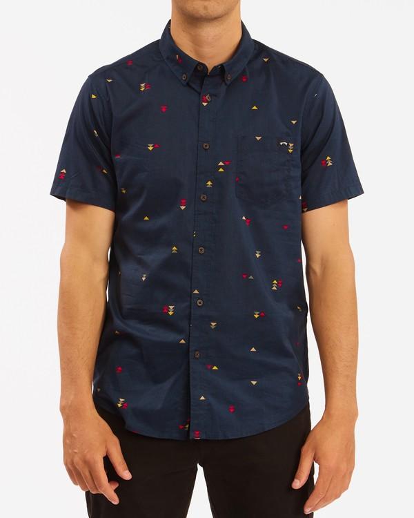 0 Sundays Mini Short Sleeve Shirt Blue M5033BSM Billabong