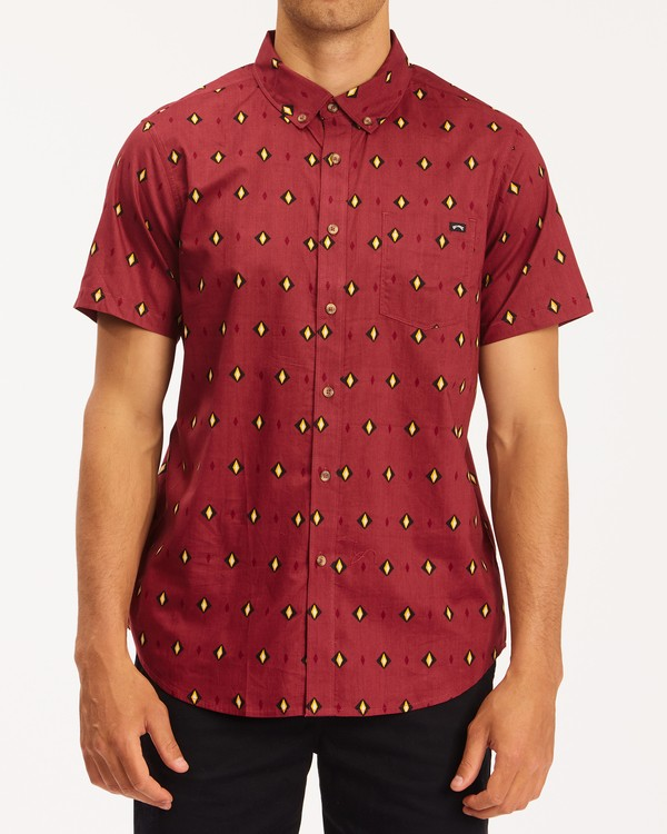0 Sundays Mini Short Sleeve Shirt Red M5033BSM Billabong