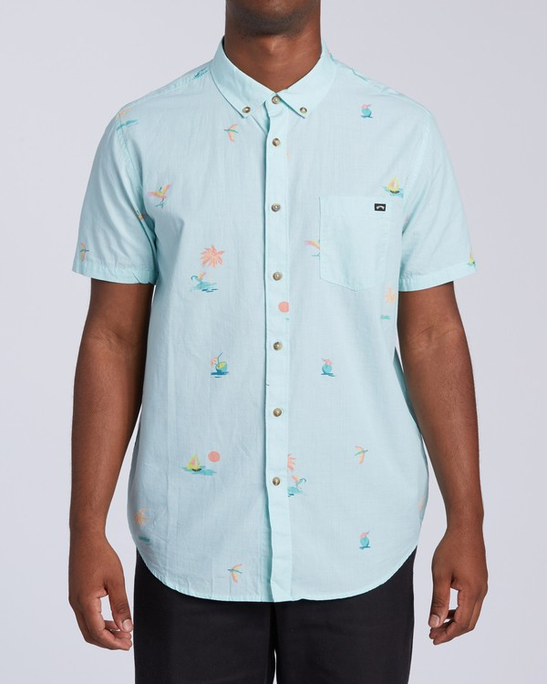 0 Sundays Mini Short Sleeve Shirt Multicolor M5033BSM Billabong