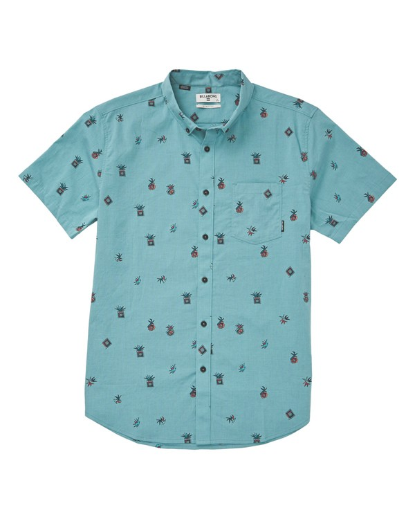 0 Sundays Mini Short Sleeve Shirt Blue M503TBSM Billabong