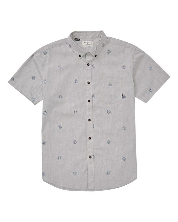 0 Sundays Mini Short Sleeve Shirt Grey M503TBSM Billabong
