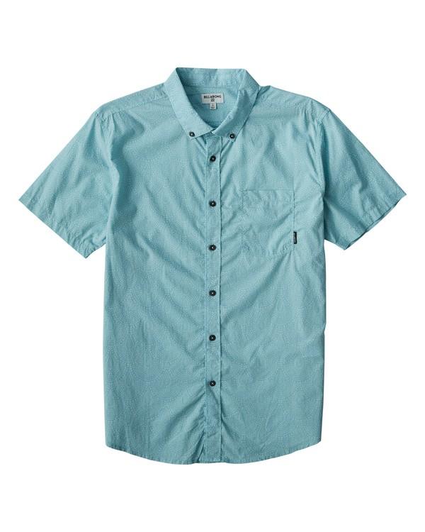 0 Sundays Mini Short Sleeve Shirt Blue M503VBSM Billabong