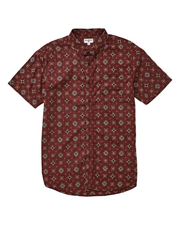 0 Sundays Mini Short Sleeve Shirt Red M503VBSM Billabong