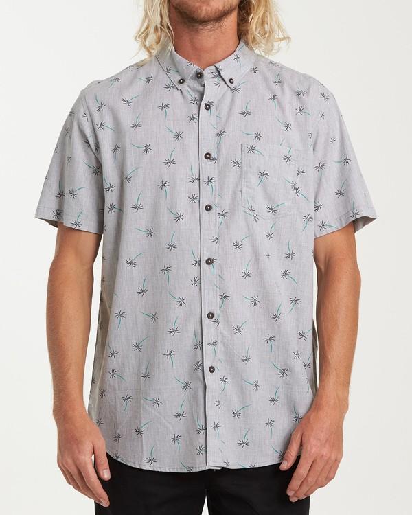0 Sundays Mini Short Sleeve Shirt Grey M503VBSM Billabong