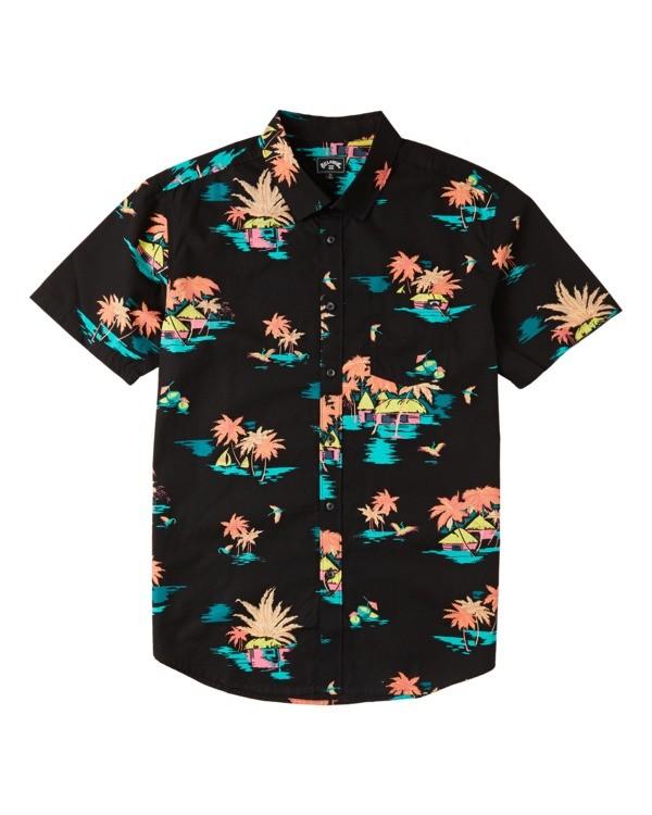 0 Sundays Floral Short Sleeve Shirt Black M5043BSF Billabong