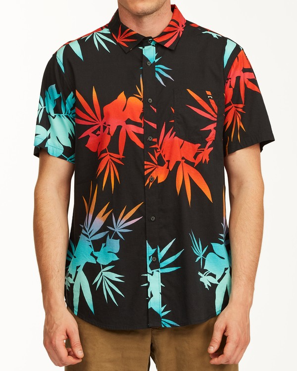 0 Sundays Floral Short Sleeve Shirt Multicolor M5043BSF Billabong