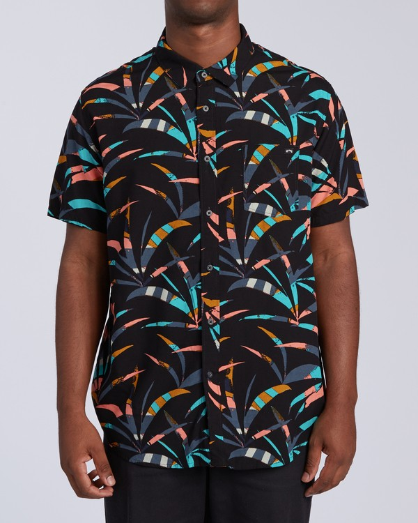 0 Sundays Floral Short Sleeve Shirt Black M5043BSF Billabong