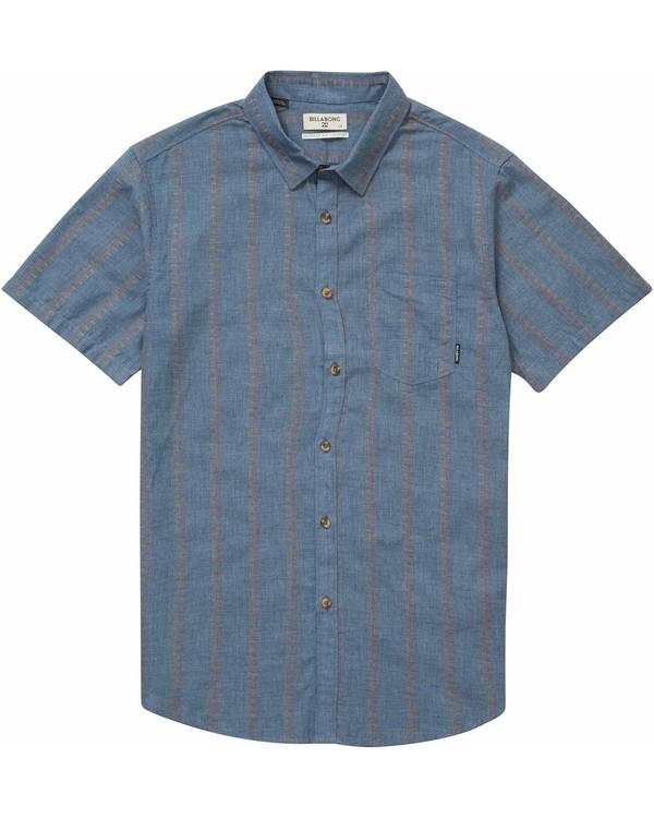 0 Sundays Jacquard Short Sleeve Shirt Blue M504NBSJ Billabong