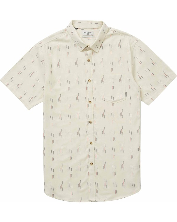 0 Sundays Jacquard Short Sleeve Shirt Brown M504NBSJ Billabong