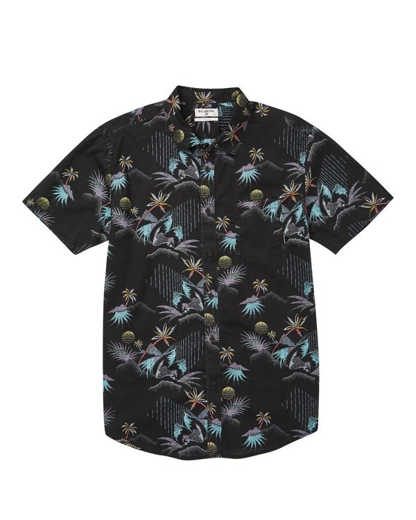 0 Sundays Floral Short Sleeve Shirt Black M504TBSF Billabong