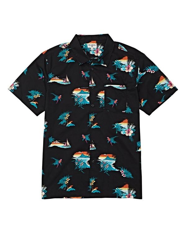 0 Sundays Floral Short Sleeve Shirt Black M504VBSF Billabong
