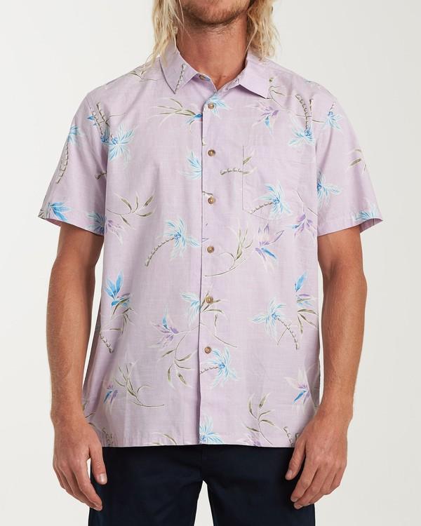 0 Sundays Floral Short Sleeve Shirt Pink M504VBSF Billabong