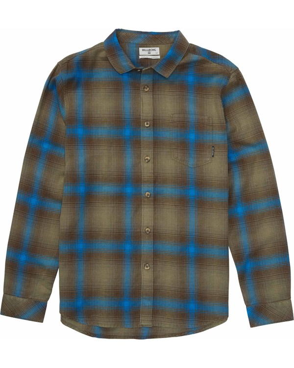 0 Freemont Flannel Shirt Green M505MFRE Billabong