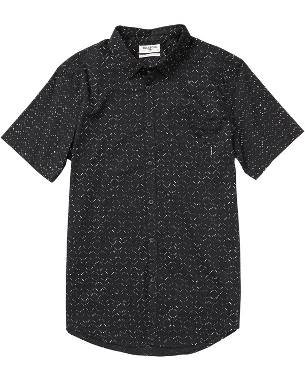0 Sundays Mini Printed Short Sleeve Shirt Black M505SBSM Billabong