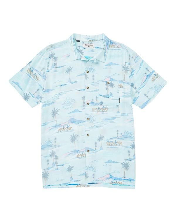 0 Vacay Print Short Sleeve Shirt Blue M505TBVP Billabong
