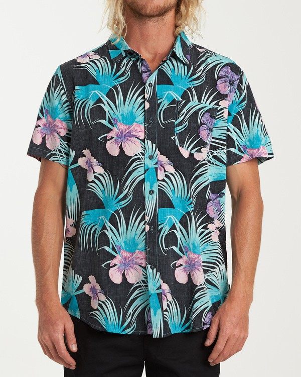 0 Vacay Print Short Sleeve Shirt Black M505VBVP Billabong