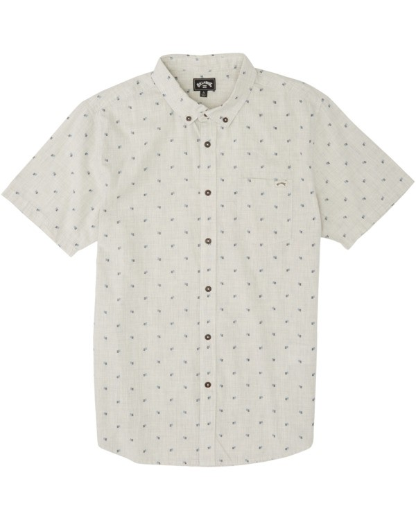 0 All Day Jacquard Short Sleeve Shirt Red M5073BSJ Billabong