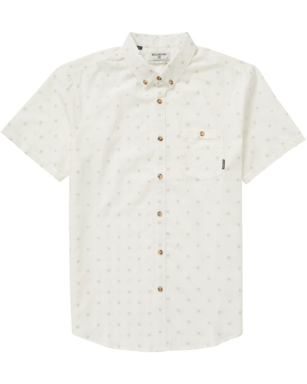 0 All Day Jacquard Short Sleeve Shirt White M507PBSJ Billabong