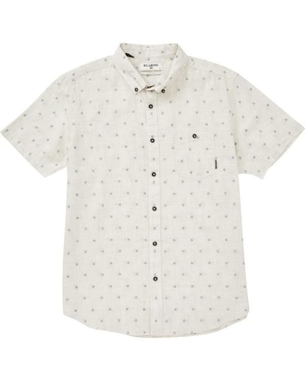 0 All Day Jacquard Short Sleeve Shirt Beige M507PBSJ Billabong