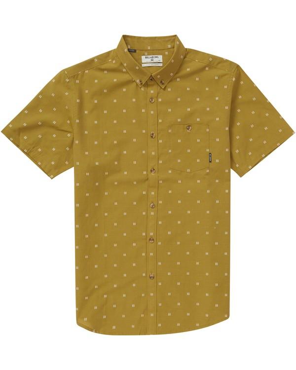 0 All Day Jacquard Short Sleeve Shirt Brown M507PBSJ Billabong
