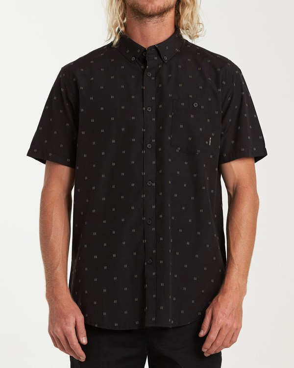 0 All Day Jacquard Short Sleeve Shirt Black M507VBSJ Billabong