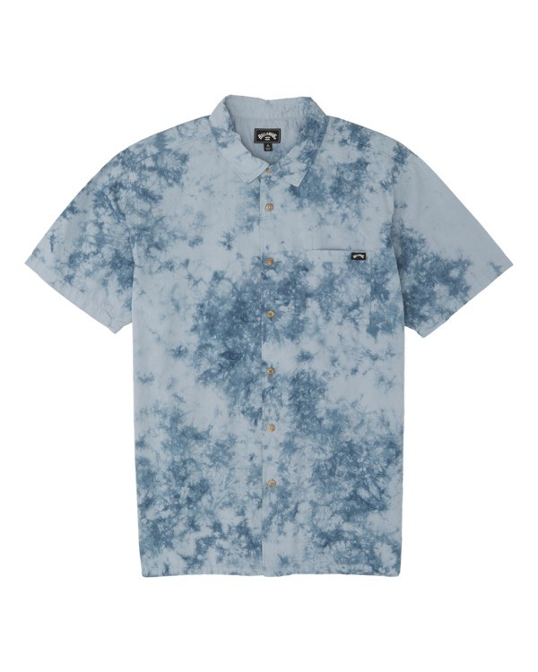 0 Sundays Tie Dye Short Sleeve Shirt Blue M5081BTD Billabong