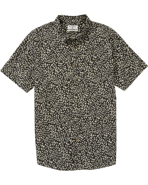 0 Sundays Mini Short Sleeve Shirt Grey M508PBSM Billabong
