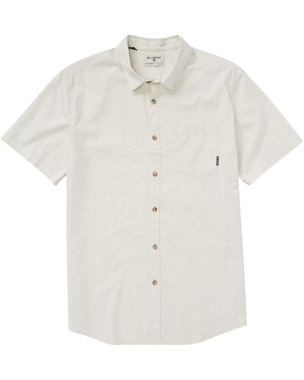 0 Sundays Mini Short Sleeve Shirt Beige M508PBSM Billabong